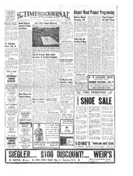 Times Journal- v.12 no.22 Feb 7, 1957