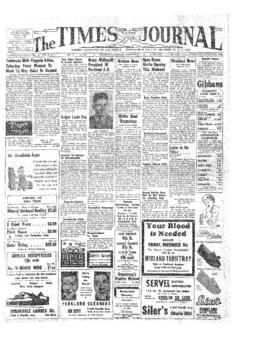 Times Journal- v.10 no. 8 Nov 4, 1954