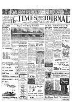 Times Journal- v.10 no. 9 Nov 11, 1954