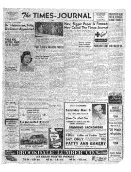 Times Journal- v. 6 no.24 Mar 1, 1951