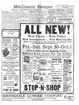 Mid-County Shopper- v. 3 no.39 Sep 29, 1949