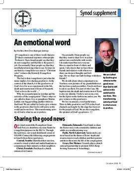 """The Lutheran"" insert - October, 2008"