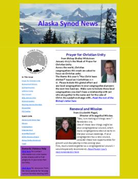 Alaska Synod News - January 17, 2014