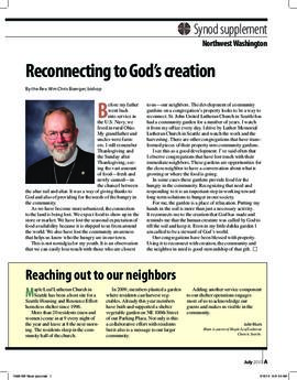 """The Lutheran"" insert - July, 2010"