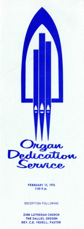 Organ Dedication Program