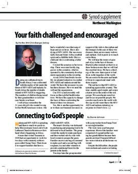 """The Lutheran"" insert - April, 2011"