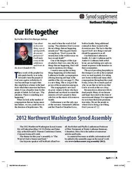 """The Lutheran"" insert - April, 2012"