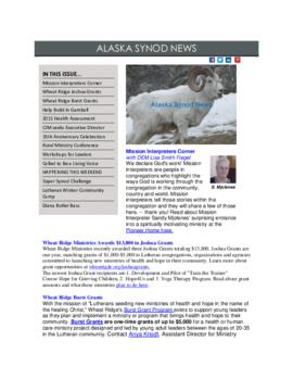 Alaska Synod News - January 28, 2015