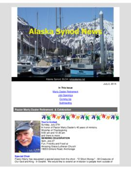 Alaska Synod News - July 2, 2014