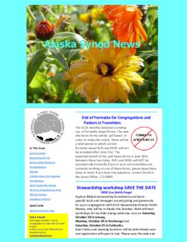 Alaska Synod News - June 18, 2014