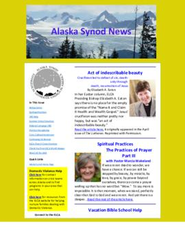 Alaska Synod News - May 7, 2014