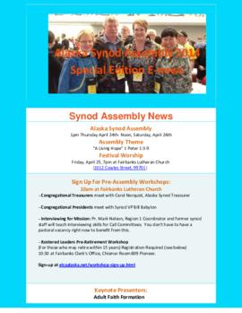 Alaska Synod News - March 27, 2014