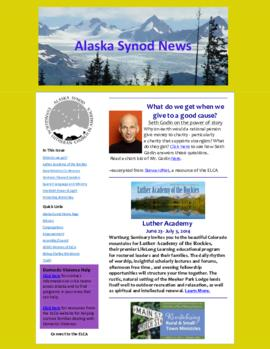 Alaska Synod News - January 24, 2014