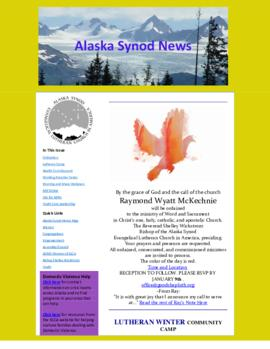 Alaska Synod News - January 3, 2014
