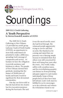Soundings - September, 2009