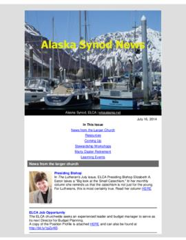 Alaska Synod News - July 16, 2014