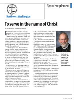 """The Lutheran"" insert - October, 2009"