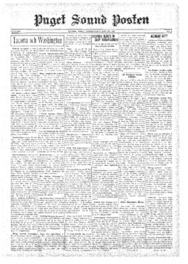 Puget Sound Posten- v.39 no. 5 Jan 31, 1930