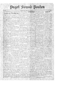 Puget Sound Posten- v.39 no. 2 Jan 10, 1930