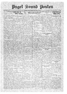 Puget Sound Posten- v.40 no. 1 Jan 2, 1931