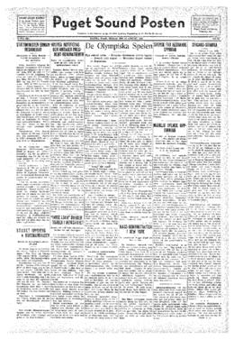 Puget Sound Posten- v.41 no.33 Aug 12, 1932