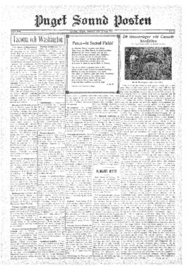 Puget Sound Posten- v.39 no.22 May 30, 1930