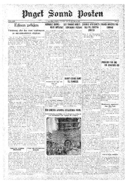 Puget Sound Posten- v.40 no.43 Oct 23, 1931