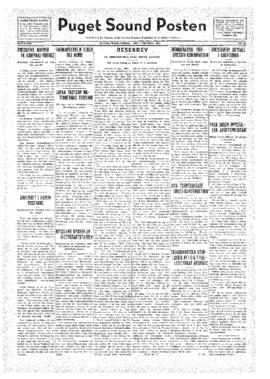 Puget Sound Posten- v.41 no.41 Oct 7, 1932