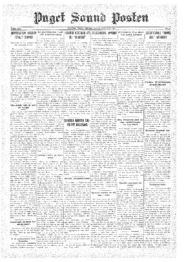 Puget Sound Posten- v.40 no. 8 Feb 20, 1931