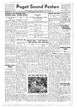 Puget Sound Posten- v.41 no.25 Jun 17, 1932