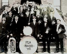 PLA Band in front of Old Main, 1908