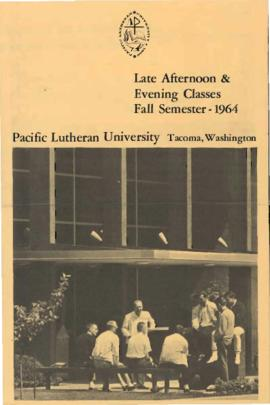 1964 Fall Late Afternoon & Evening Class Schedule