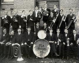 PLA Band on side of Old Main, 1908
