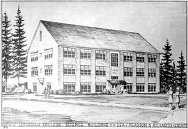 Sketch of Science Building (Ramstad Hall)