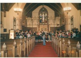 Rehearsal, University Singers 2004 tour