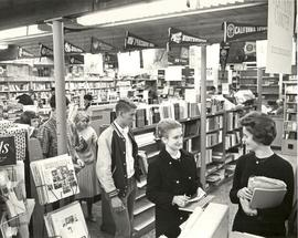 Students in College Union Bookstore