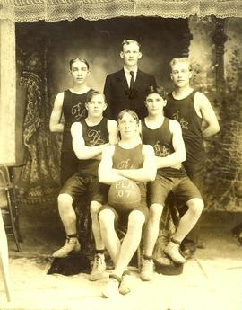 PLA basketball team (inside), 1907