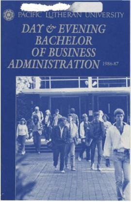 1986-1987 Day & Evening Bachelor of Business Administration Catalog
