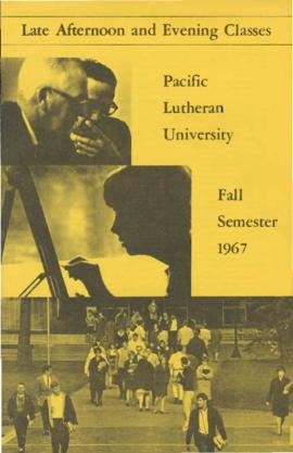 1967 Fall Late Afternoon & Evening Class Schedule