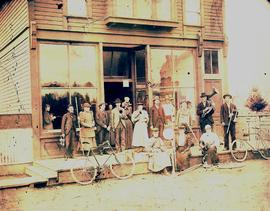 PLU Band Outside Parkland Mercantile Store and Post Office