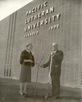President Eastvold and Stella Jacobs