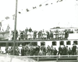 Choir of the West 1963 Tour on boat