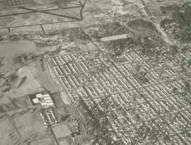 Aerial View of campus, Parkland, and McChord, 1962