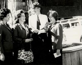 Choir of the West 1963 Tour, speaking with local