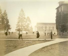 Baseball Game in front of Old Main