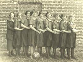 PLC women's basketball team (side view), 1923