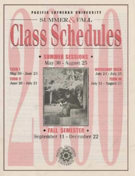 2000 Summer & Fall Class Schedules