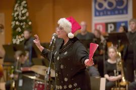 KPLU Christmas Jam host speaking