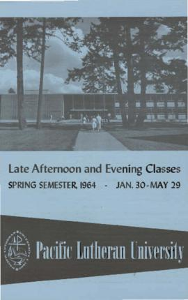 1964 Spring Late Afternoon & Evening Class Schedule