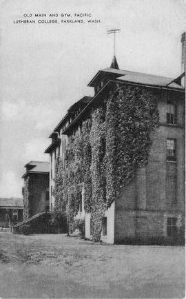 Old Main covered in ivy